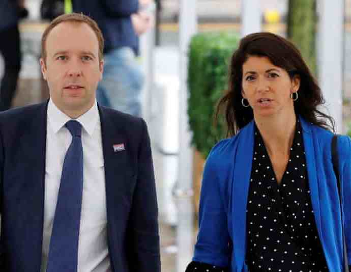 The government has launched an investigation into the leaked CCTV footage of Matt Hancock and Gina Coladangelo. Photograph: Phil Noble/Reuters