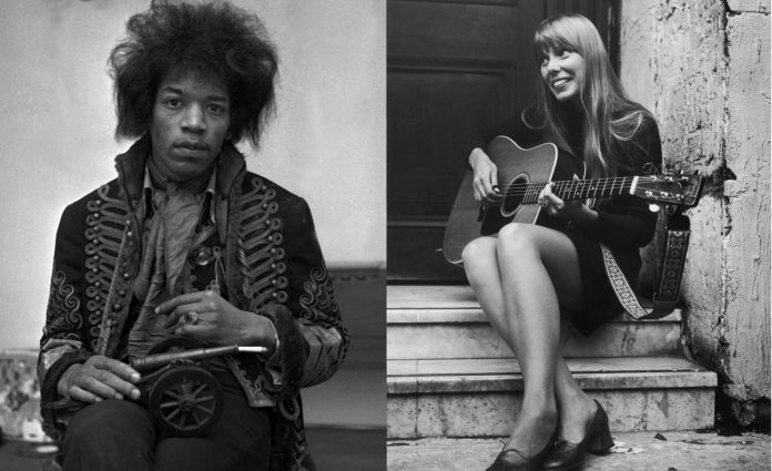 Jimi Hendrix and Joni Mitchell (Picture: Getty)