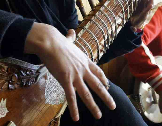 Sitar practice at the Afghan National Institute of Music in 2013. Photograph: Musadeq Sadeq/AP