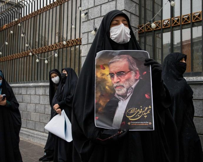 Mohsen Fakhrizadeh, the father of Iran's nuclear program, kept a low profile and photographs of him were rare. This photo appeared on martyrdom posters after his death.Credit...Arash Khamooshi for The New York Times