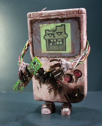 gameboy zombie halloween
