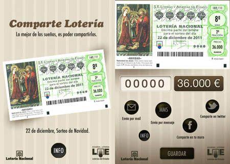 Comparte la Lotería de Navidad