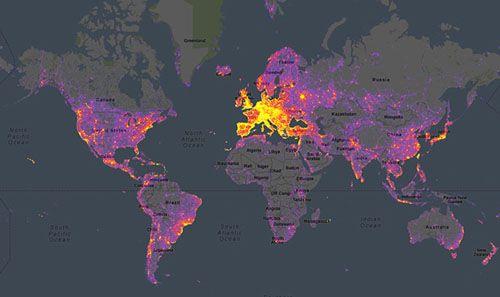 world photo map