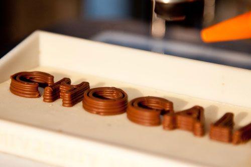 chocolate, impresora