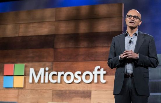 BELLEVUE, WA - DECEMBER 2: Microsoft CEO Satya Nadella speaks during the company's annual shareholders meeting, on December 2, 2015 in Bellevue, Washington. (Photo by Stephen Brashear/Getty Images)