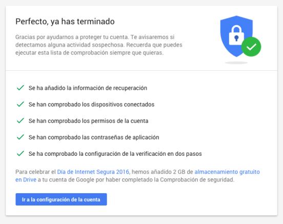 google espacio seguridad