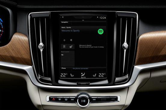 Volvo integrated Spotify app