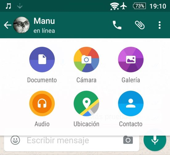 whatsapp android compartir
