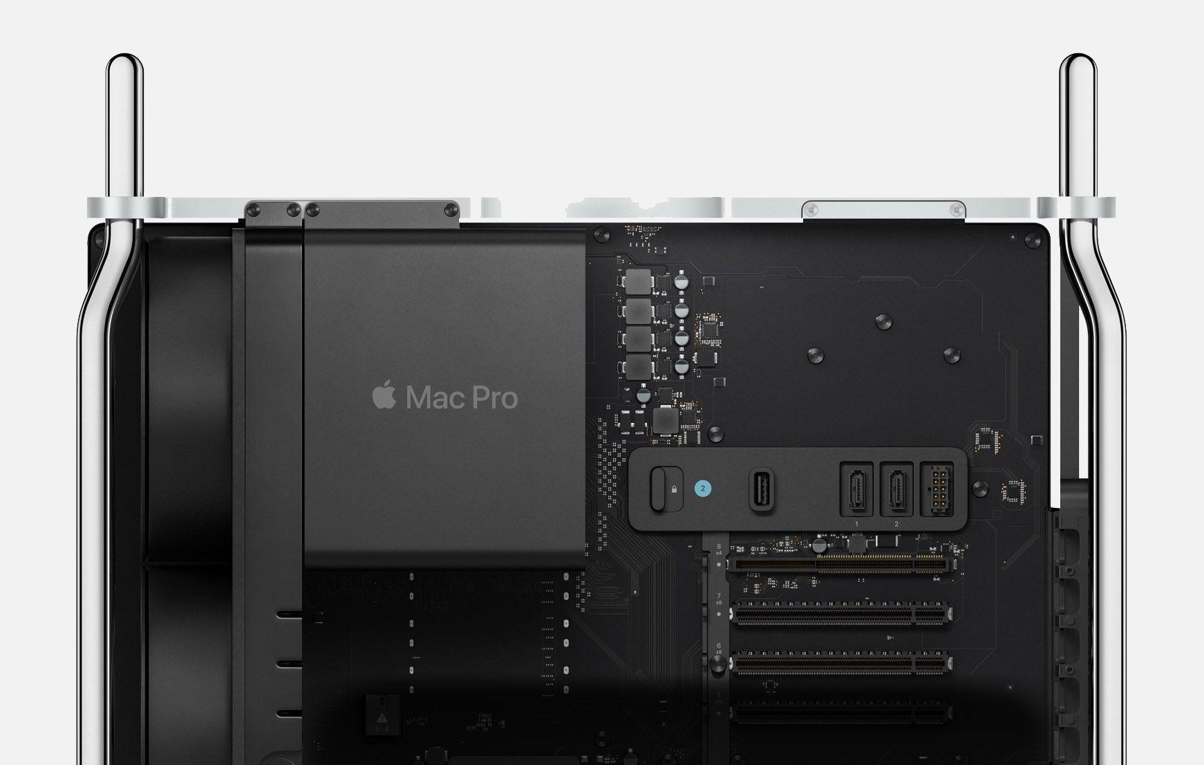 Parte superior de un Mac Pro sin la caja protectora