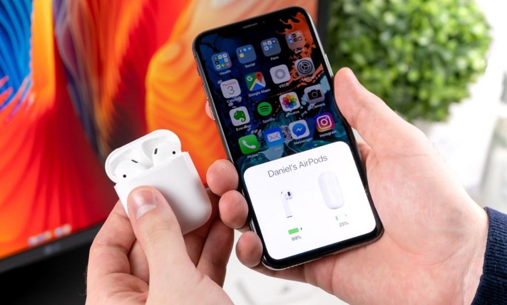 Configurando unos AirPods en un iPhone