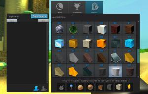 When starting out the game, your inventory is filled with different blocks and textures to get right to building.