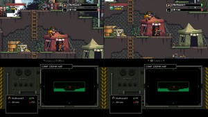 The multiplayer view is easy to use, and actually provides more info on-screen for each player than a normal single-player game.