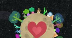 And in no time, the planet will be saved! Look at that little heart. That planet loves you, naked Cosmonaut.