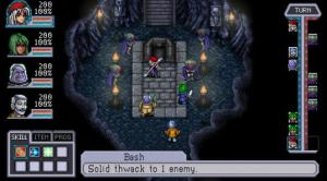 The battle system is turn based and happens directly on the map, rather than in a separate location.