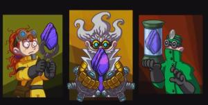 Each has their own special set of skills and mad scientist style. With the mysterious asteroid, they are able to mutate some sort of monster for their evil intentions.
