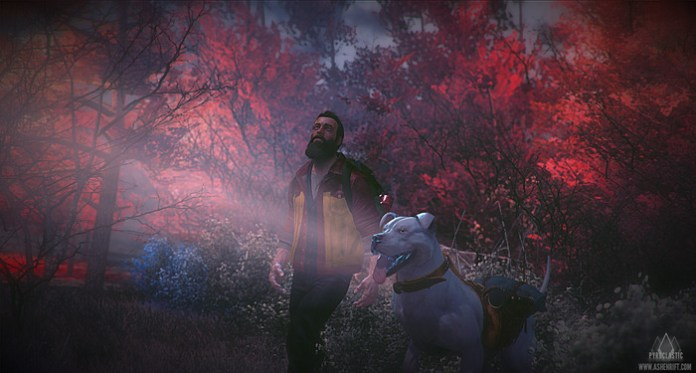 Ashen Rift is an adventure shooter that's crowdfunding on Kickstarter. It features a dog, and lots of facial hair.
