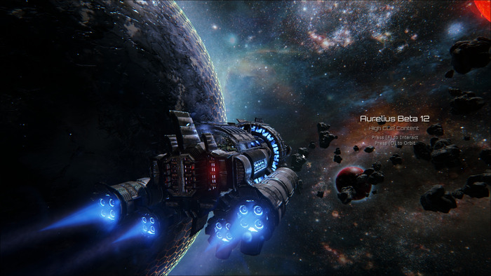Into The Stars is an open world space game on Kickstarter. Think  Oregon Trails meets FTL.