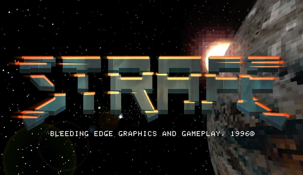 Strafe is a first person shooter ( FPS ) thats crowdfunding on Kickstarter