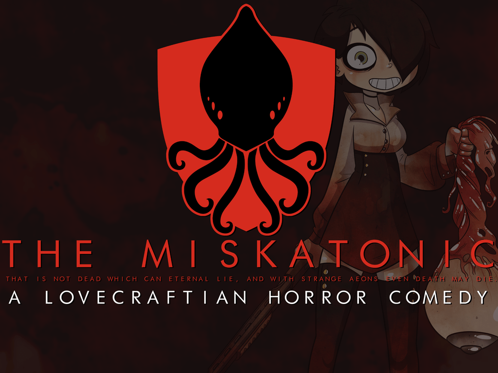 The Miskatonic is a side-scrolling horror comedy visual novel that's crowdfunding on Kickstarter.