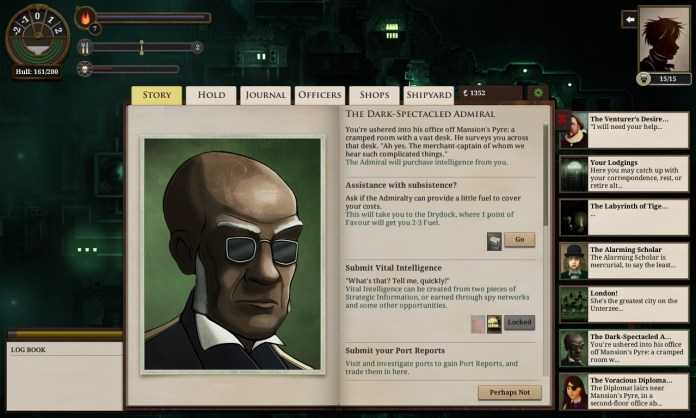 Earn at least 3 Admiralty favor, and you get to speak to this fellow for more specialized information trading.