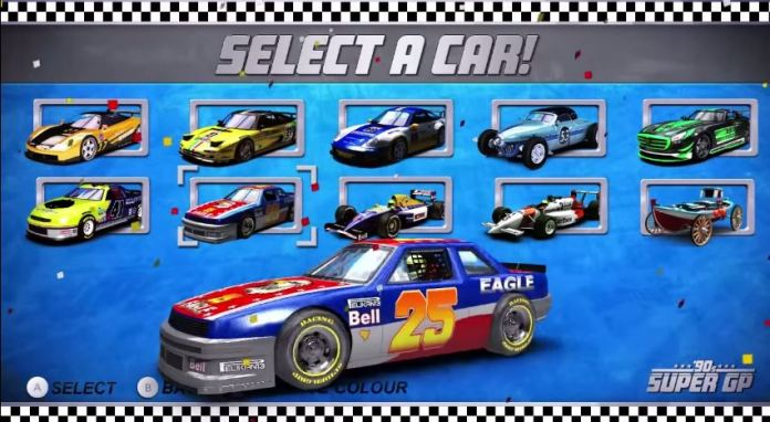 90s Car Racer, inspired by Daytona and Virtua Racing