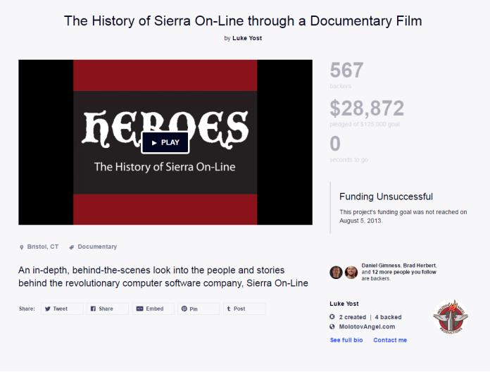 Heroes: The History of Sierra On-Line