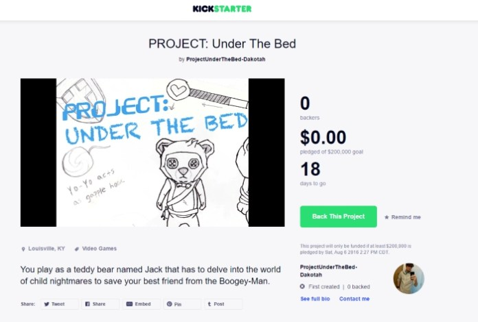 projectunderthebed