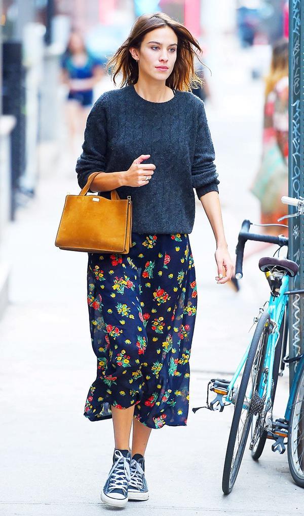 Floral Skirt Converse