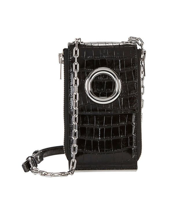 Alexander Wang Riot Croc Embossed Leather Wallet Shoulder Bag