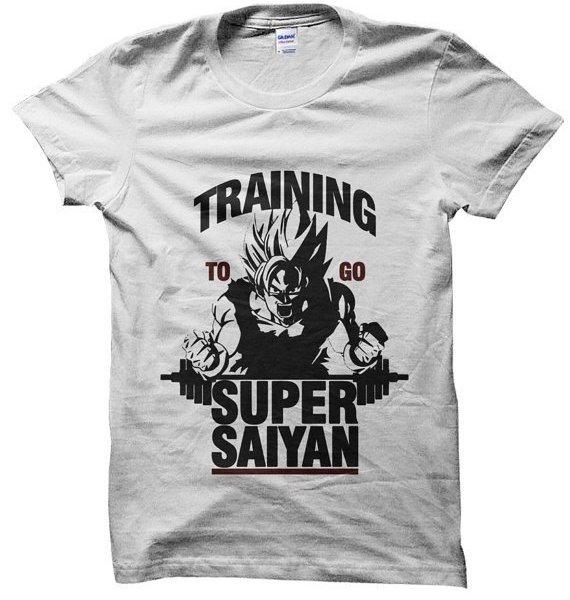 Training to go Super Saiyan Gym Dragon Ball Z t-shirt by Clique Wear