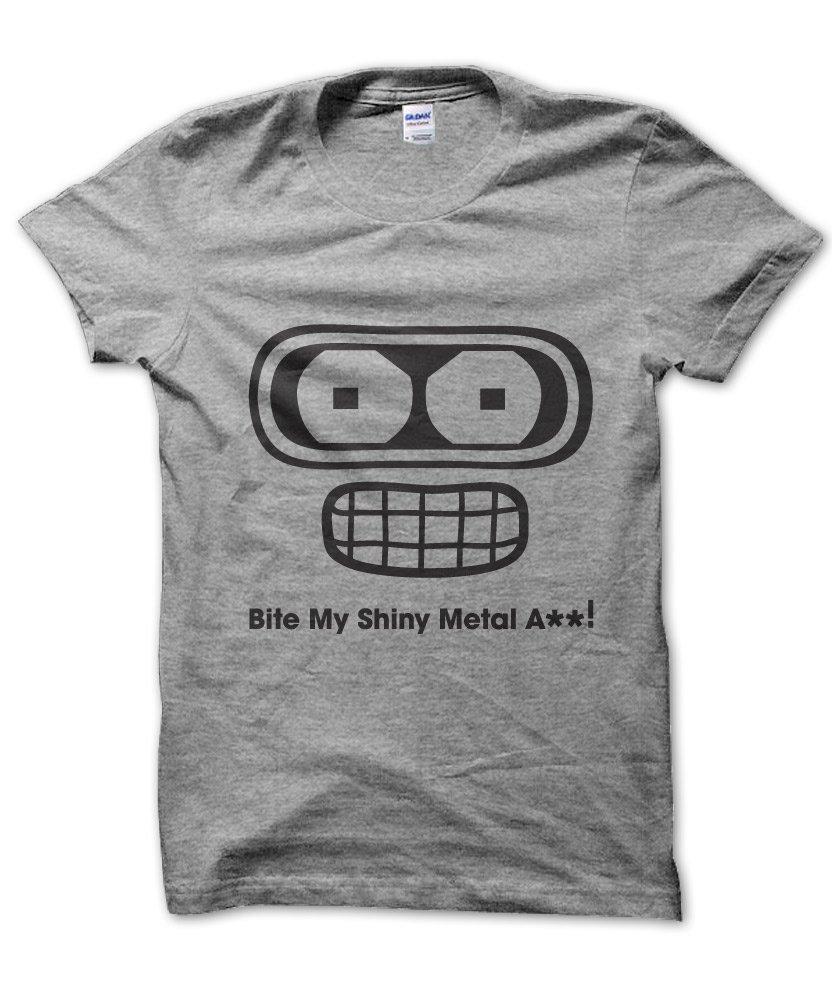 Futurama Bender Bite My Shiny Metal Ass T Shirt Clique Wear