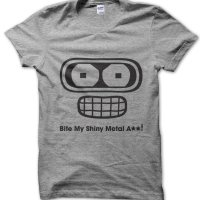 Bite My Shiny Metal Ass! Futurama t-shirt by Clique Wear