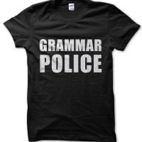 Grammar Police t-shirt by Clique Wear