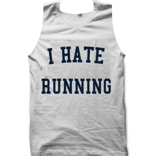 I Hate Running tank top / vest by Clique Wear
