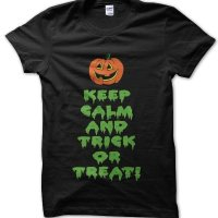 Keep Calm and Trick or Treat Halloween t-shirt by Clique Wear