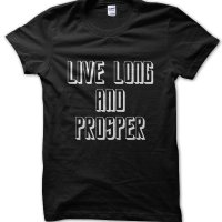 Live Long and Prosper Star Trek t-shirt by Clique Wear