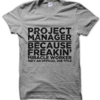 Porject Manager t-shirt by Clique Wear