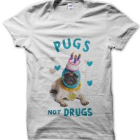 Pugs Not Drugs t-shirt by Clique Wear