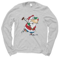 Santa Golfing Christmas jumper by Clique Wear