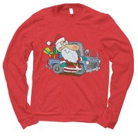 Santa Redneck Car Christmas jumper by Clique Wear
