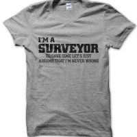 I'm an surveyor lets just assume I'm never wrong t-shirt by Clique Wear