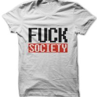 mr robot fuck society t-shirt by Clique Wear