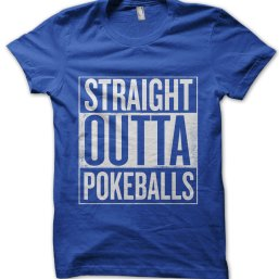 Straight Outta Pokeballs t-shirt by Clique Wear