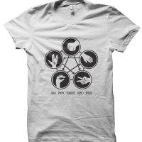 Rock Paper Scissors Lizard Spock t-shirt by Clique Wear