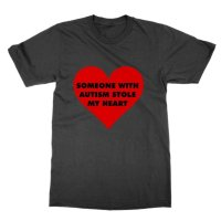 Someone with autism stole my heart t-shirt by Clique Wear