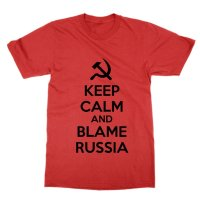 Keep Calm and Blame Russia t-shirt by Clique Wear