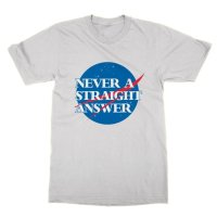 Never a Straight Answer t-shirt by Clique Wear