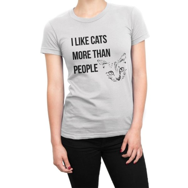 I Like Cats More Than People t-shirt by Clique Wear