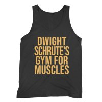 Dwight Schrute's Gym for Muscles Gold vest by Clique Wear