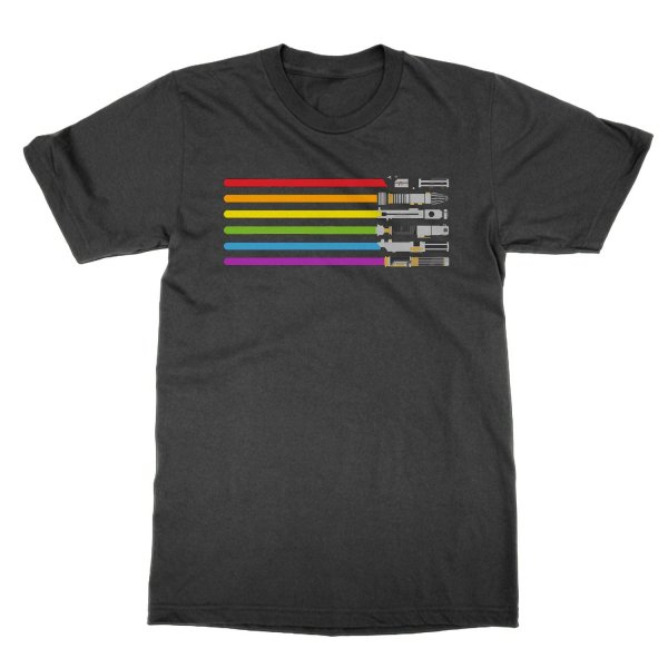 LGBT flag lightsabers t-shirt by Clique Wear